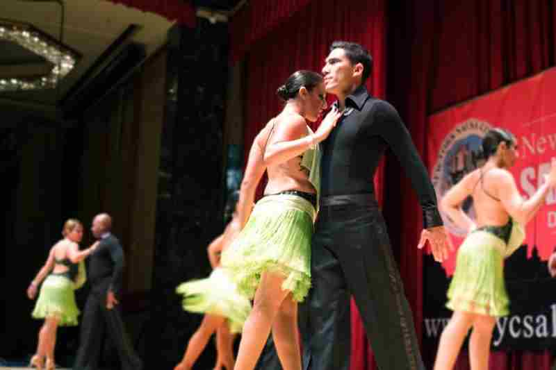 Salsa dancers in New York