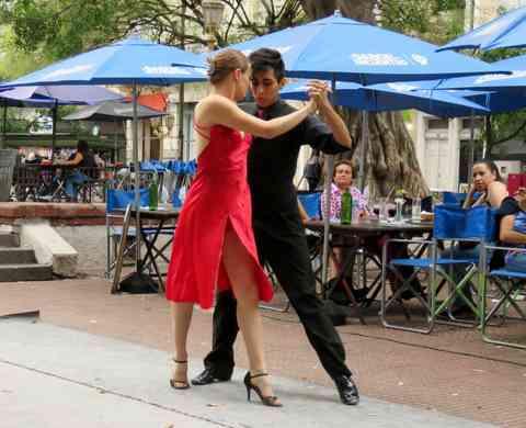 Tango Argentino dancers.